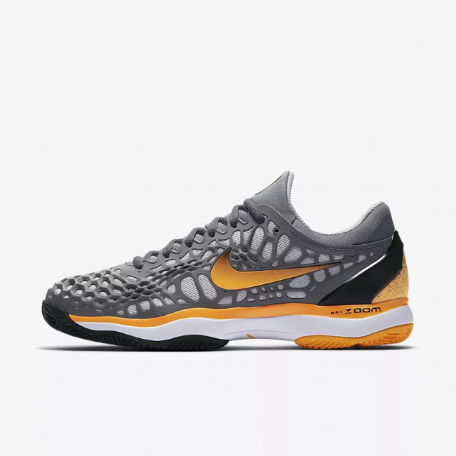 huge discount 1200b 1971c Scarpe Nike Air Zoom Cage 3 Clay Court (Grigio Arancio)